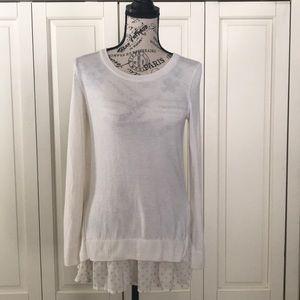 ANN TAYLOR Polka Dot Layered Sweater sz S